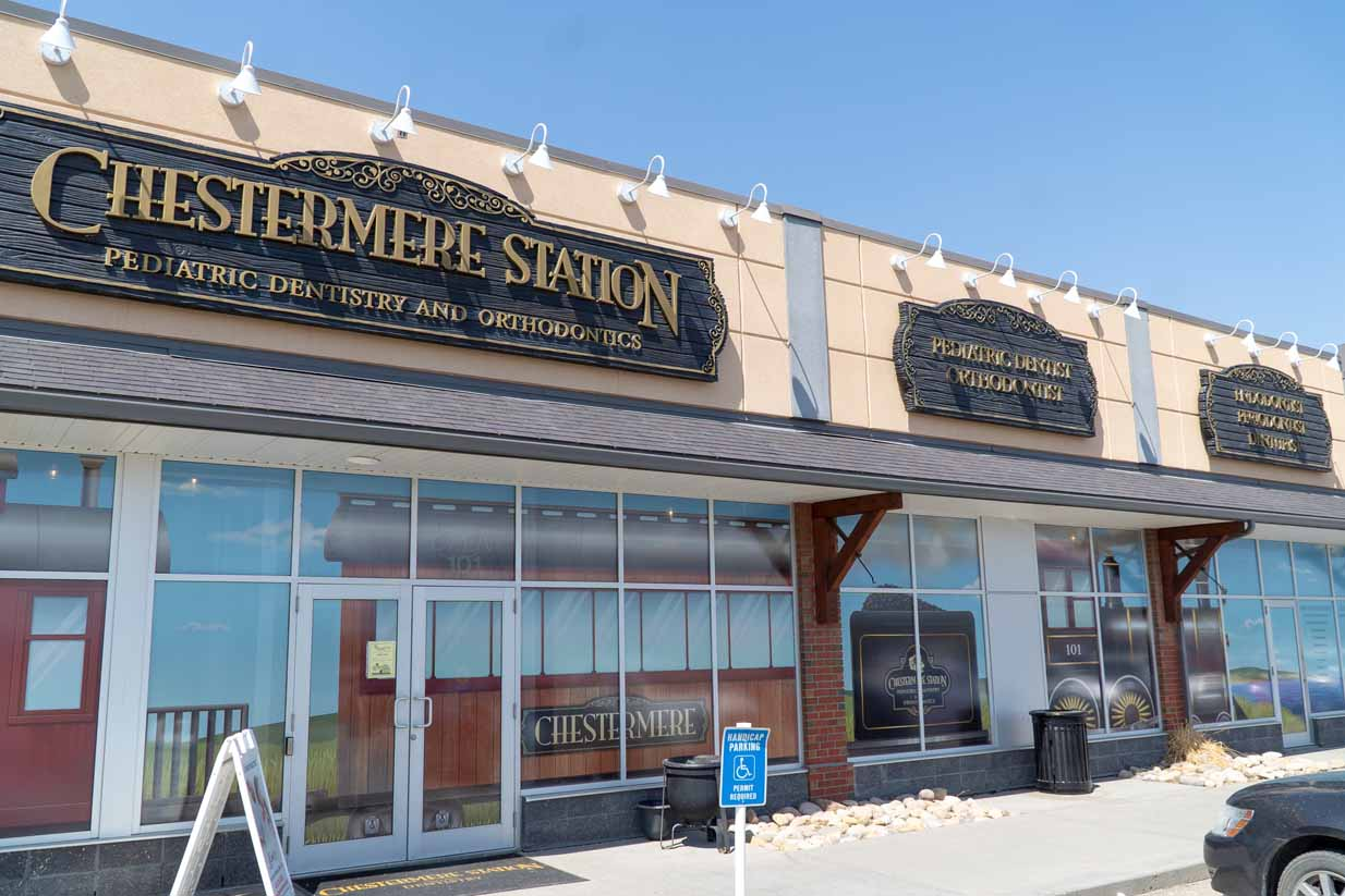 Chestermere Station Dentistry | Front Entrance & Signage