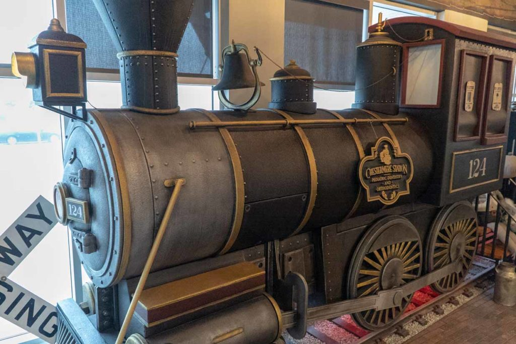 Chestermere Station Dentistry | Replica Old Time Train